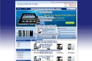 Mẫu website XaLotech-TYC