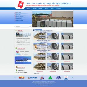Mẫu website Xây dựng sông Đáy-TYC