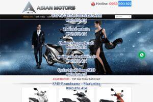 Mẫu website Xe máy-TU