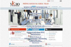 Mẫu website Phòng khám Ykao-TYC